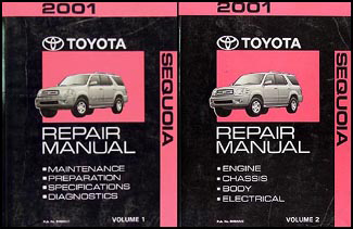 2001 Toyota Sequoia Repair Manual Original Set