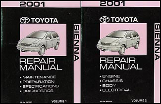 2001 Toyota Sienna Repair Manual Original