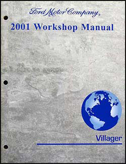 2001 Mercury Villager Repair Manual Original