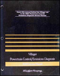 2001 Mercury Villager Engine & Emissions Diagnosis Manual