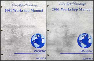 2001 ford windstar repair manual 2 volume set original