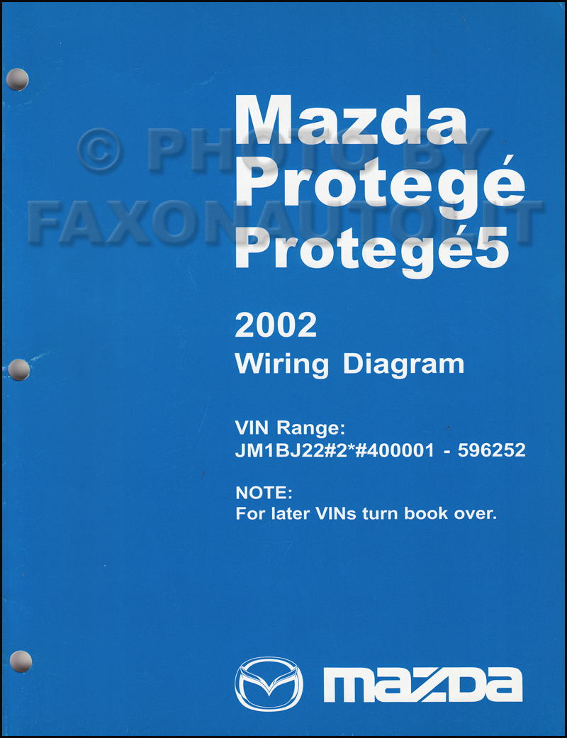 2002-2002.5 Mazda Protege Wiring Diagram Manual Original