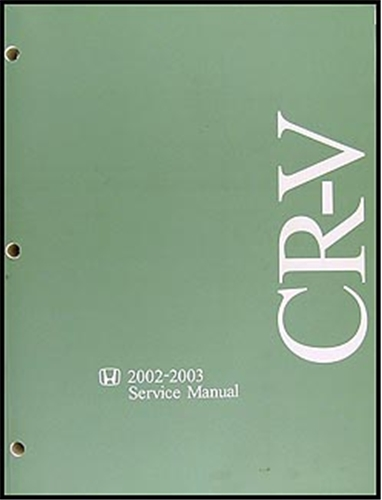 2002-2003 Honda CR-V Repair Manual Original
