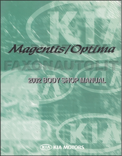 2002 Kia Optima Repair Manual Original