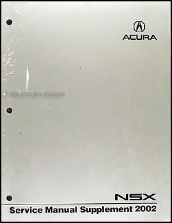 2002 Acura NSX Shop Manual Original Supplement