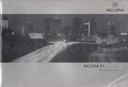 2002 Acura RL Navigation System Owners Manual Original
