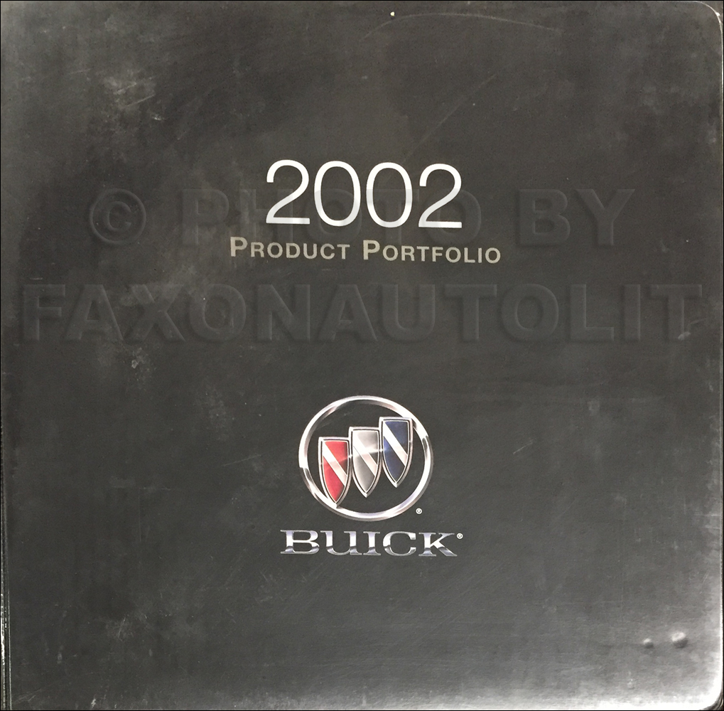 2002 Buick Color & Upholstery Dealer Album Original