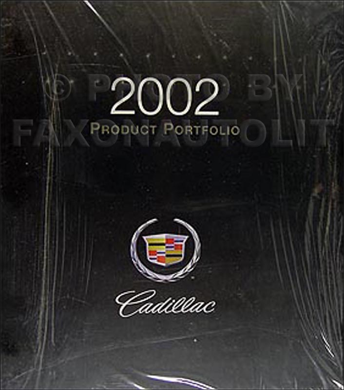 2002 Cadillac Product Portfolio - Data Book and Color & Upholstery Album