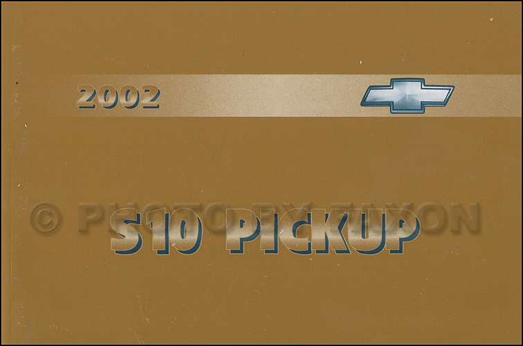 2002 Chevrolet S10 Pickup Truck Owner's Manual Original