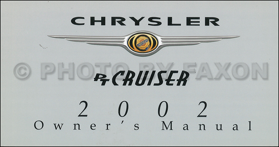 2002 Chrysler PT Cruiser CD-ROM Shop Manual