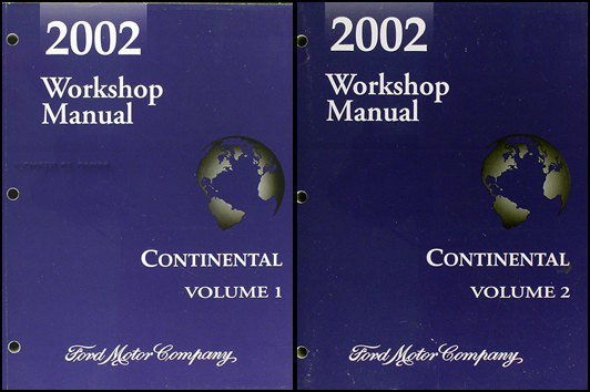 2002 Lincoln Continental Shop Manual Original 2 volume set