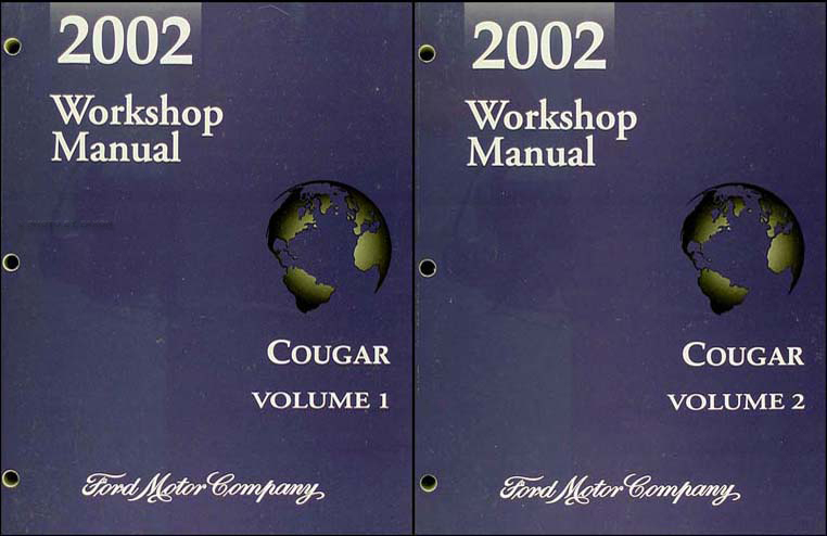 2002 Mercury Cougar Shop Manual Original 2 Volume Set