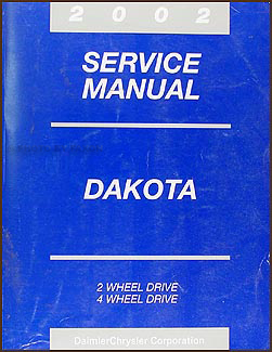 2002 Dodge Dakota Repair Manual Original