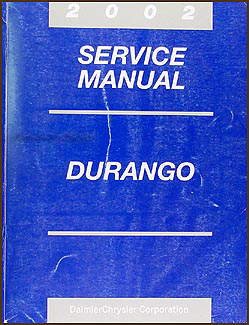 2002 Dodge Durango Repair Manual CD-ROM Original