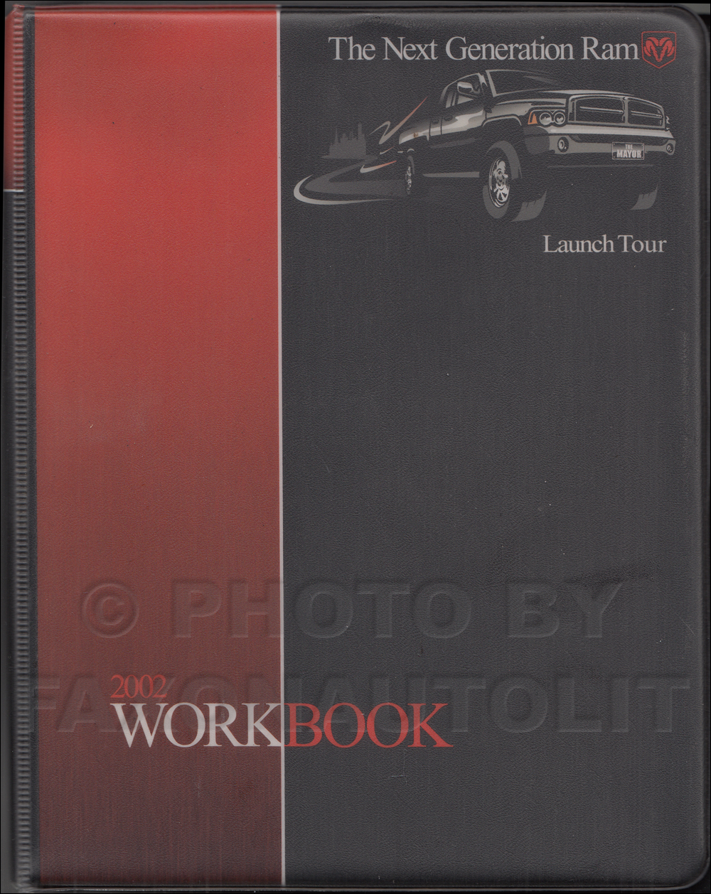 2002 Dodge Dealer Launch Tour Workbook Original with emphasis on Ram 1500