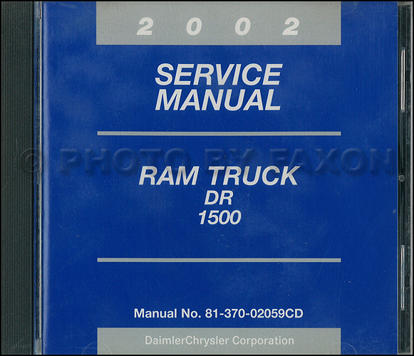 2002 Dodge Ram 1500 Pickup Truck CD-ROM Shop Manual Original
