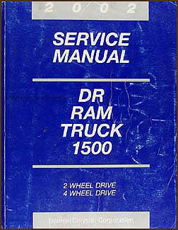 2002 Dodge Ram 1500 Pickup Truck Shop Manual Original