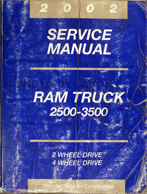 2002 Dodge Ram 2500-3500 Truck Shop Manual Original
