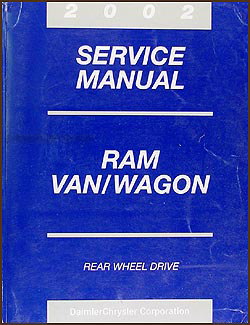 2002 Dodge Ram Van & Wagon Shop Manual Original B1500-B3500