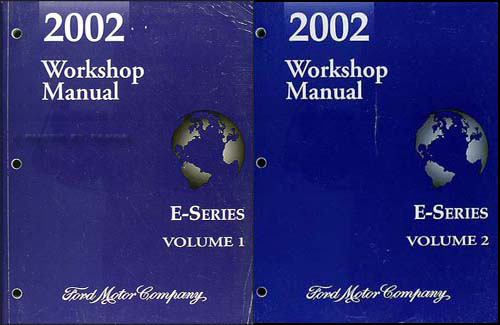 2002 Ford Econoline Van and Club Wagon Repair Shop Manual Set of 2 Original