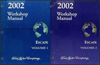 2002 Ford Escape Repair Manual Original 2 Volume Set