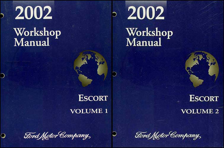 2002 Ford Escort and ZX-2 Repair Manual 2 Volume Set Original