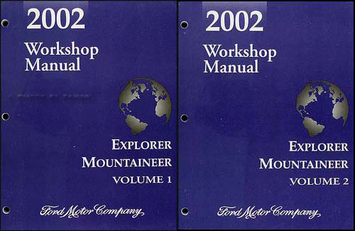 2002 Ford Explorer 4 Door Mercury Mountaineer Repair Shop Manual Original Set