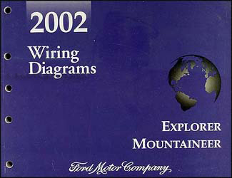 2002 Ford Explorer Mercury Mountaineer Wiring Diagram Manual Original