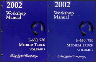 2002 Ford F650-F750 Medium Truck Repair Manual 2 Volume Set Original