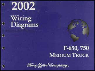 2002 Ford F650-F750 Medium Truck Wiring Diagram Manual Original