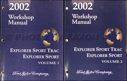 2002 Ford Explorer Sport & Sport Trac Repair Shop Manual Original Set