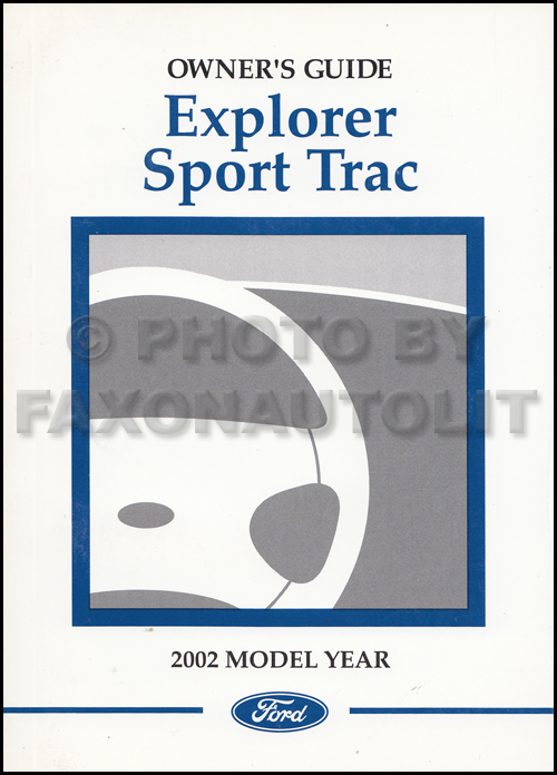 2002 Ford Explorer Sport Trac Owner's Manual Original