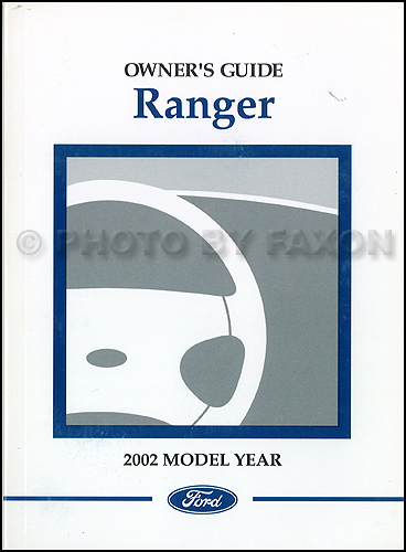 2002 Ford Ranger Owner's Manual Original