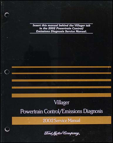 2002 Mercury Villager Engine & Emissions Diagnosis Manual