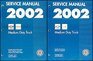 2002 Chevy GMC B7 Bus Chassis Repair Manual Original 2 Volume Set