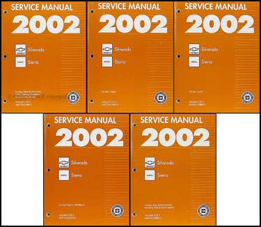 2002 Silverado & Sierra Repair Manual Original 5 Volume Set
