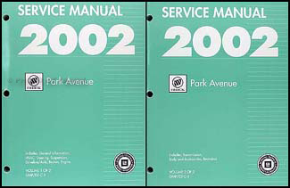 2002 Buick Park Avenue Repair Manual Original 2 Volume Set
