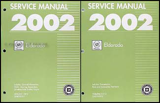 2002 Cadillac Eldorado Repair Manual Original 2 Volume Set