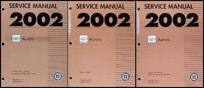 2002 Olds Aurora Repair Manual Original 3 Volume Set