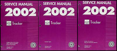 2002 Chevy Tracker Repair Manual Original 3 Volume Set