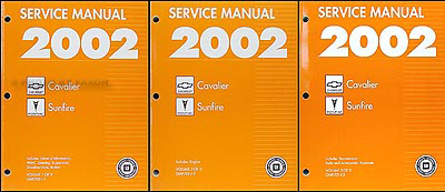 2002 Cavalier and Sunfire Repair Manual Original 3 Volume Set