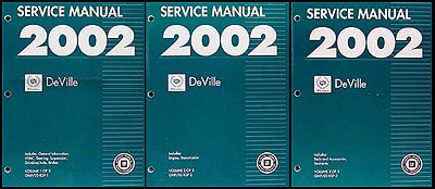 2002 Cadillac Deville Repair Manual Original 3 Volume Set