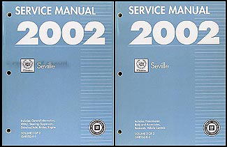 2002 Cadillac Seville Repair Manual Original 2 Volume Set
