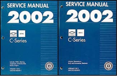 2002 Topkick & Kodiak C-6000/7000 Repair Manual Original 2 Volume Set