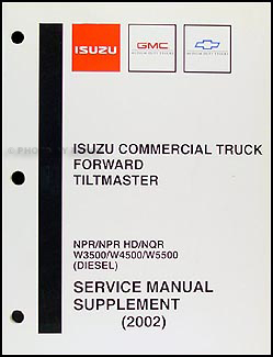 2002 NPR, NQR, W3500, W4500, W5500 Diesel Repair Shop Manual Original Supp.