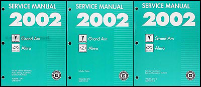 2002 Grand Am/Alero Repair Manual Original 3 Volume Set