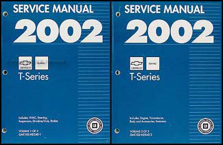 2002 T Series Tilt Cab Medium Duty Truck Repair Shop Manual Original Set