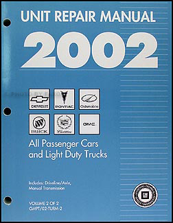 2002 GM Manual stick Transmission & 4x4 Transfer Case Overhaul Manual