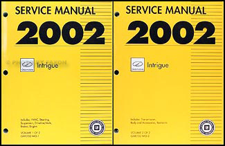 2002 Oldsmobile Intrigue Repair Manual Original 2 Volume Set