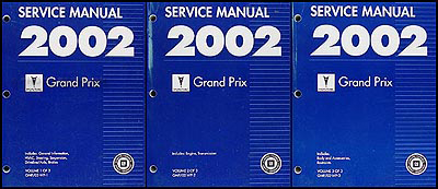 2002 Pontiac Grand Prix Repair Manual Original 3 Volume Set